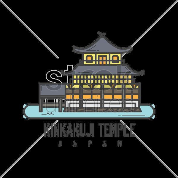 Japanese clipart castle japan. Kinkaku ji clipground kinkakuji