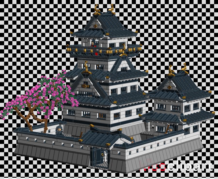 Japanese clipart castle japan. Christmas tree background building