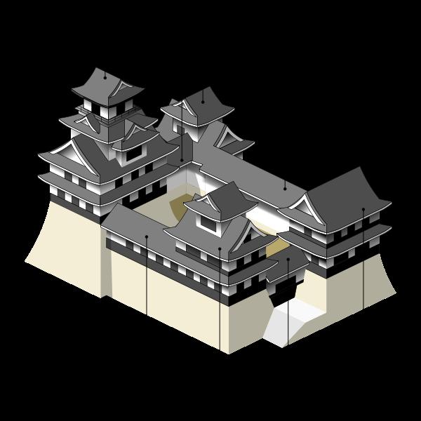 Coalition layout architecture pinterest. Japanese clipart castle japan