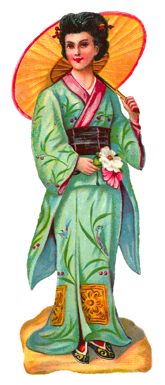 Antique images royalty free. Japanese clipart clothes japanese