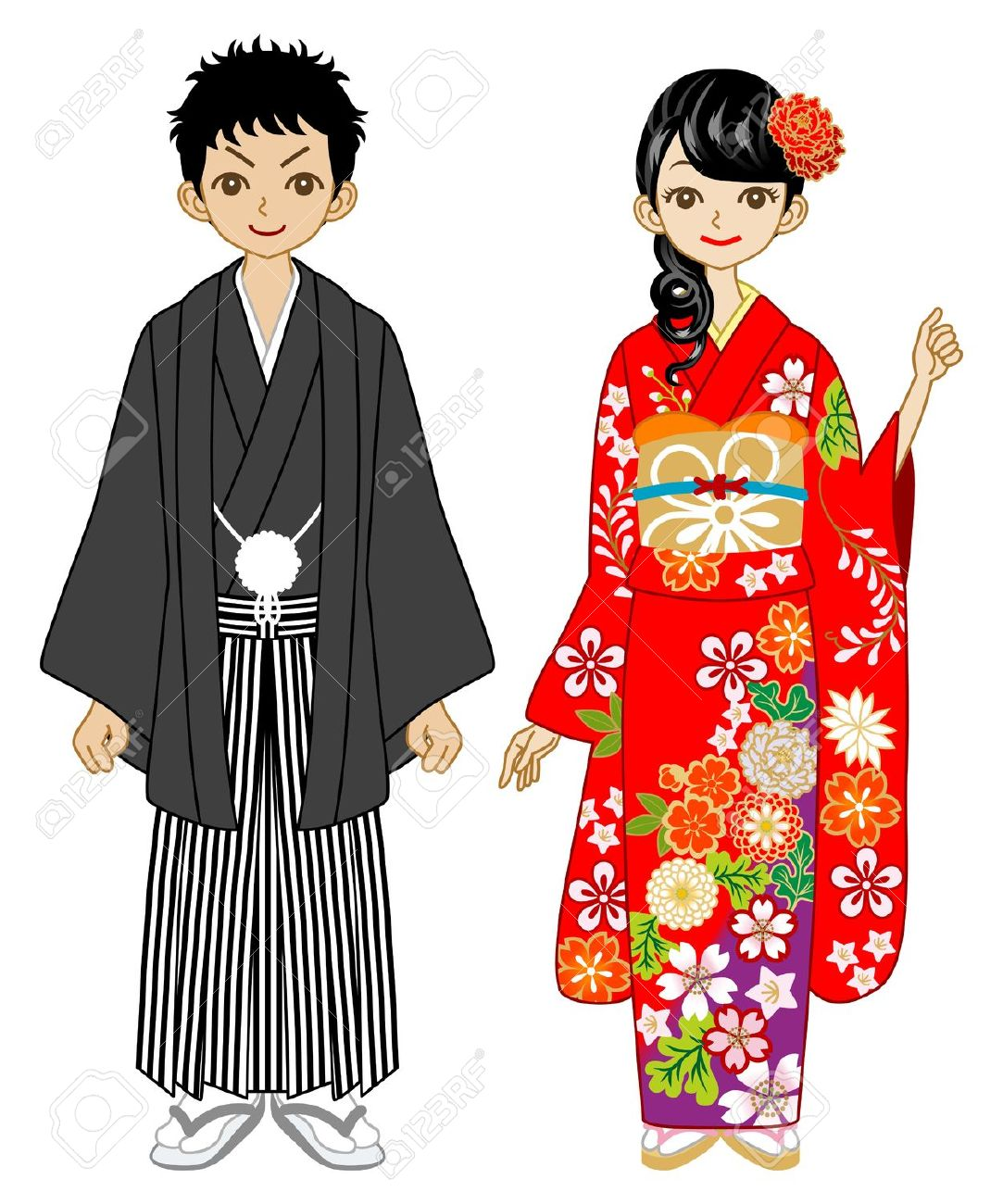 Free national dress traditional. Japanese clipart clothes japanese