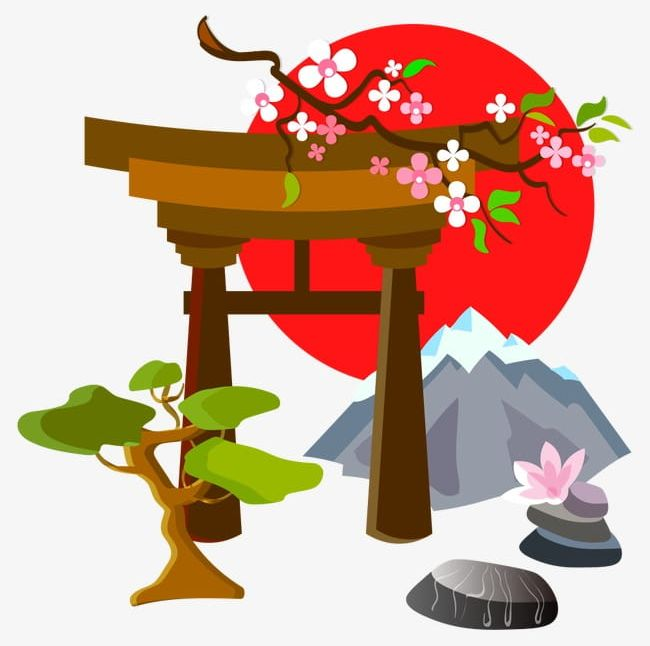 Japanese clipart culture japanese. Png blossoms cherry