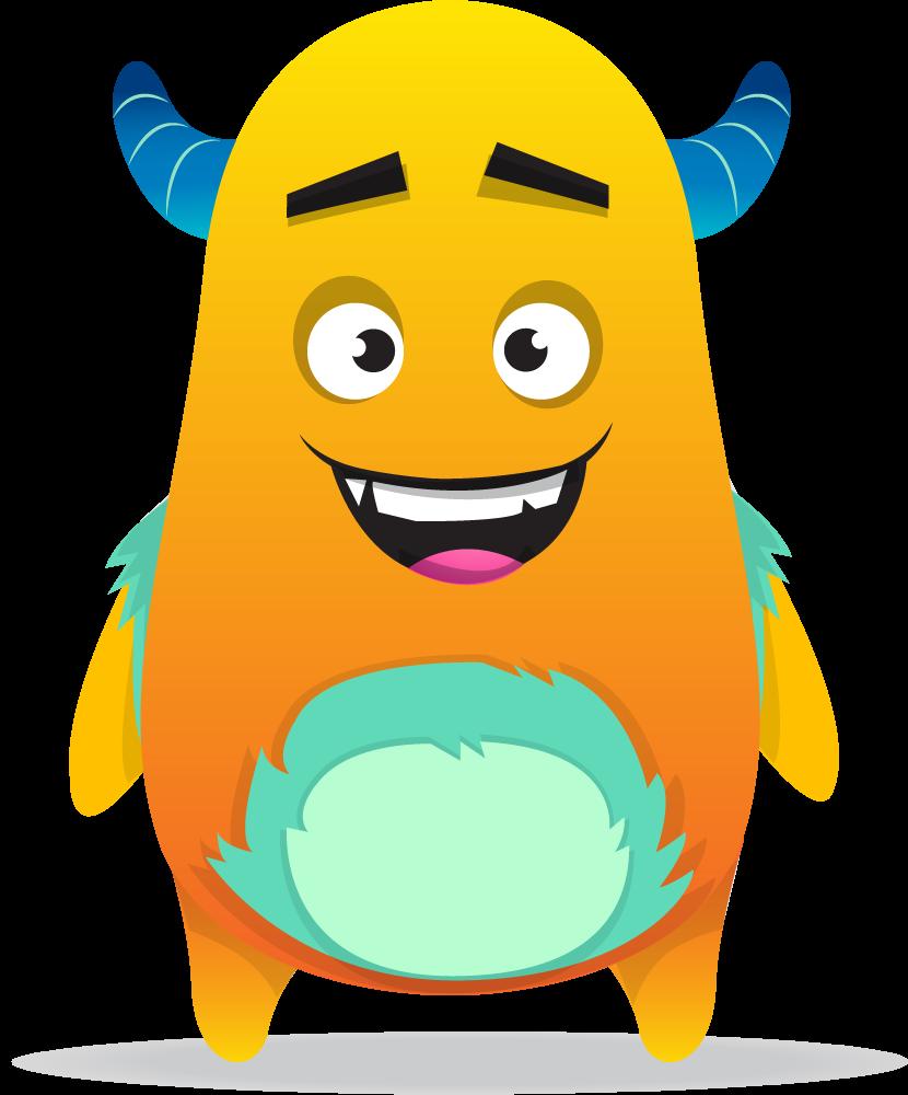 Monster clipart orange.  collection of dojo