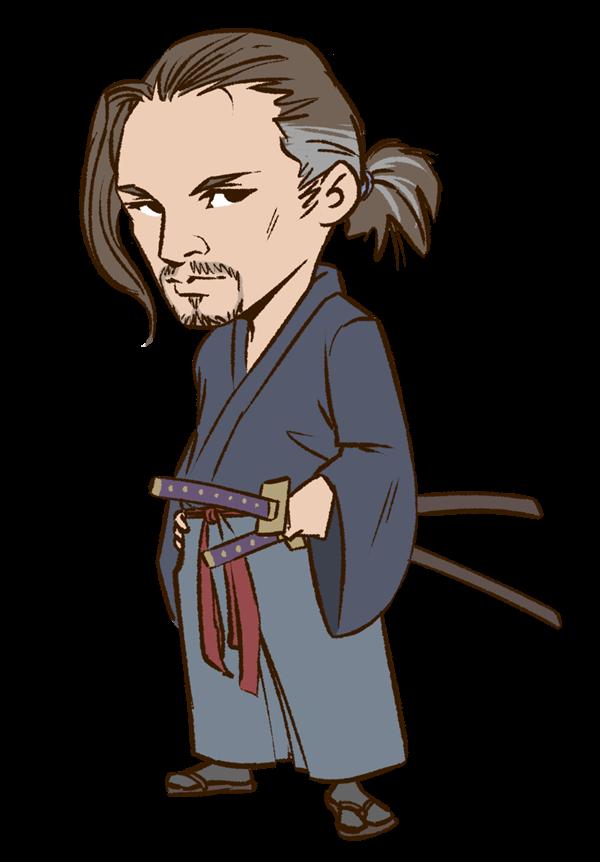 Japanese person japan frames. Samurai clipart