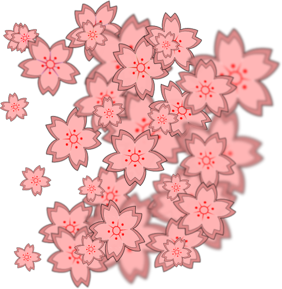 Japanese flower png. Asian design clip art