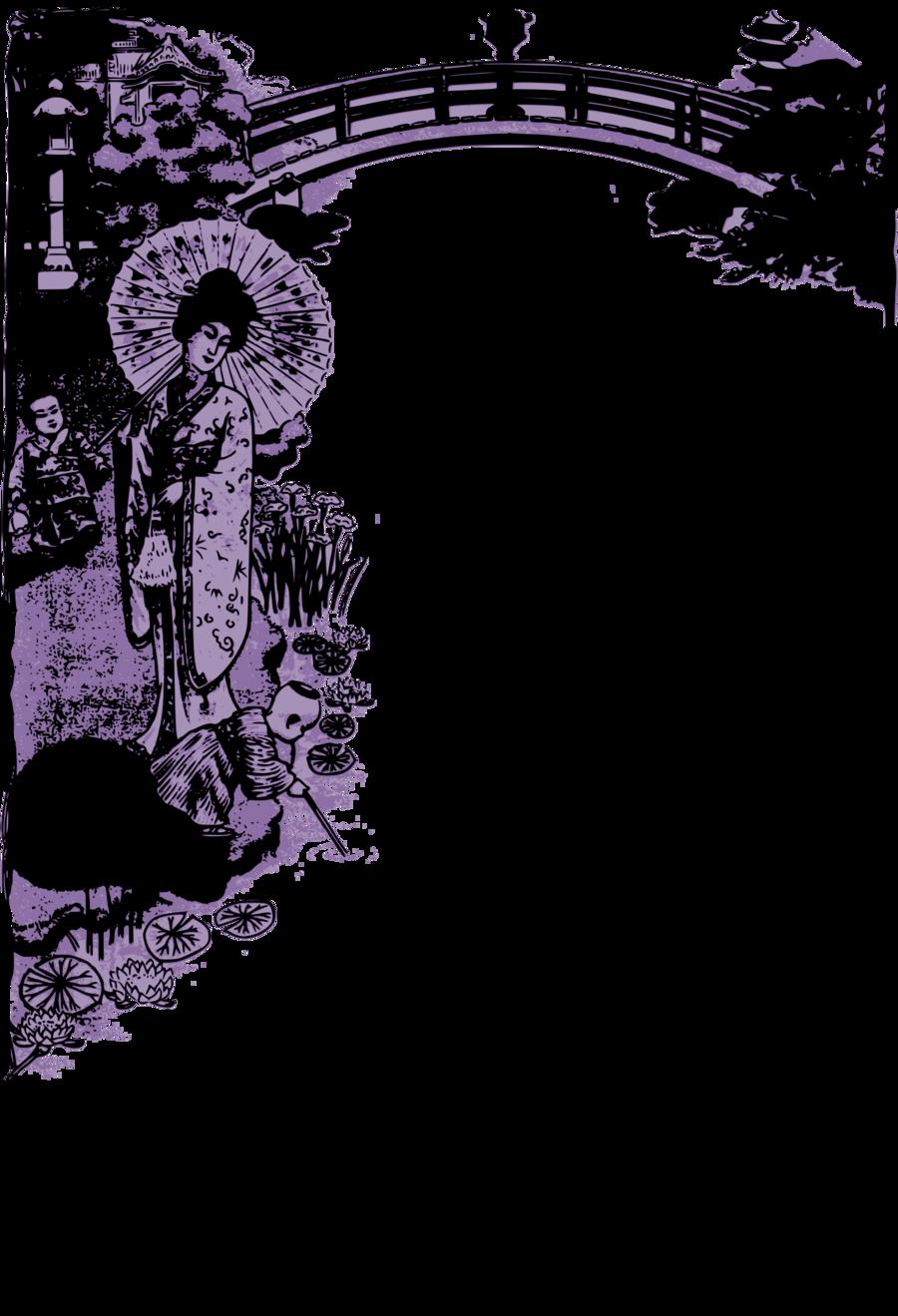 Poster background japan purple. Japanese clipart frame japanese