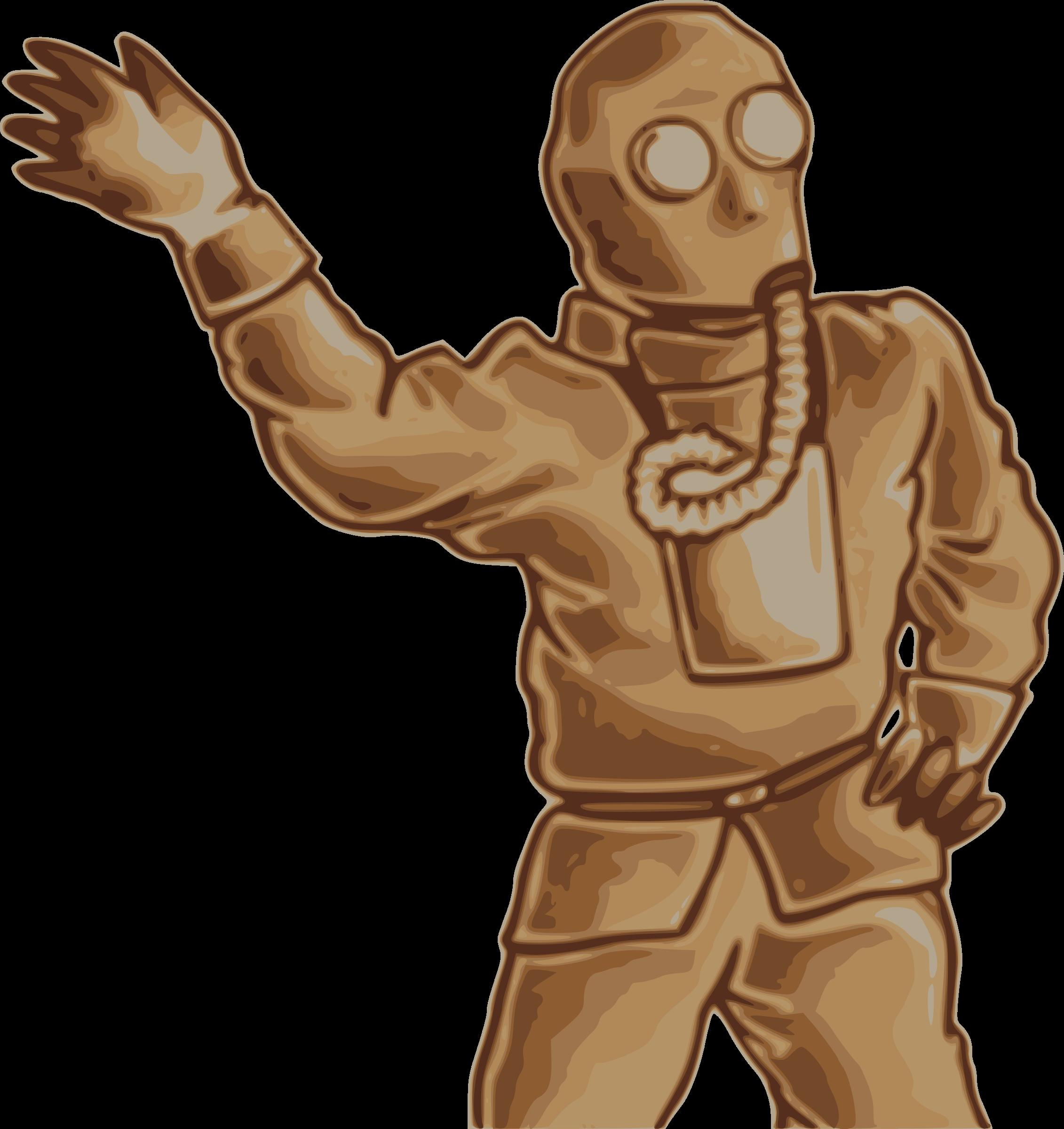 Japanese gas man big. Pilot clipart mask