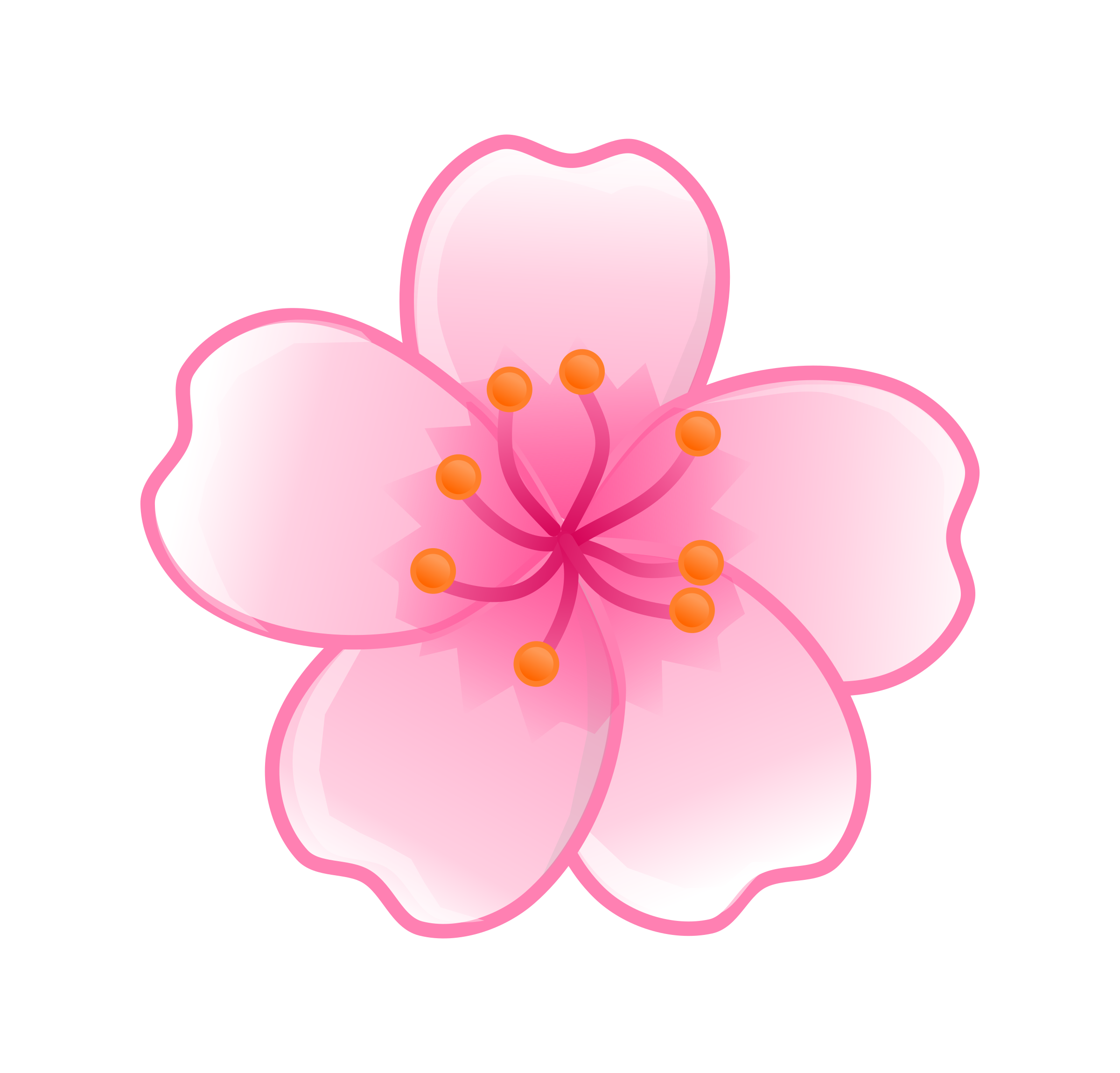 Sakura flower png. Cartoon cherry blossom tree