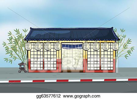 Vector art a restaurant. Japanese clipart japanese steakhouse