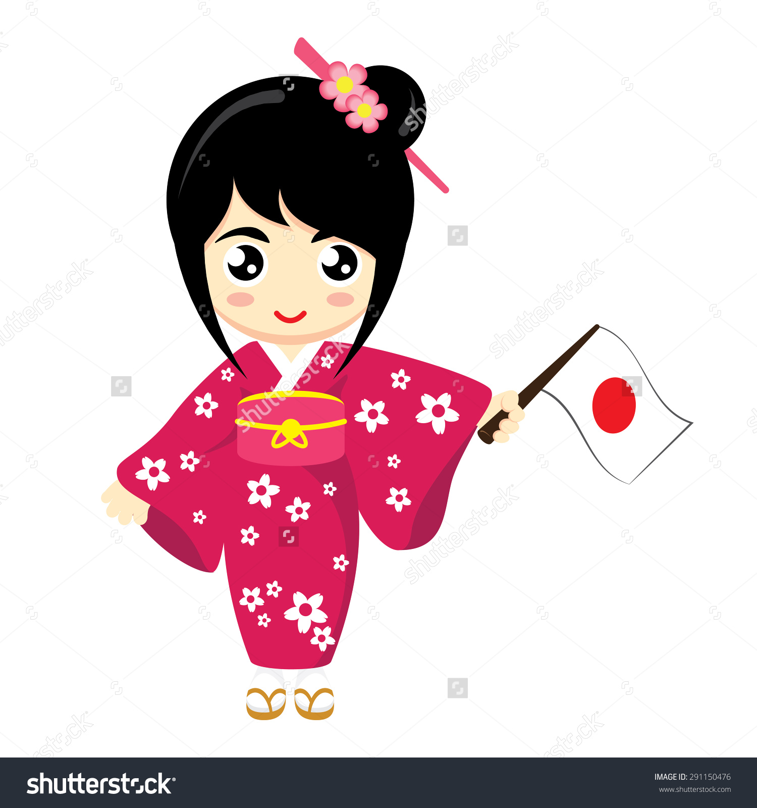 Japanese clipart japanese traditional. National dress x