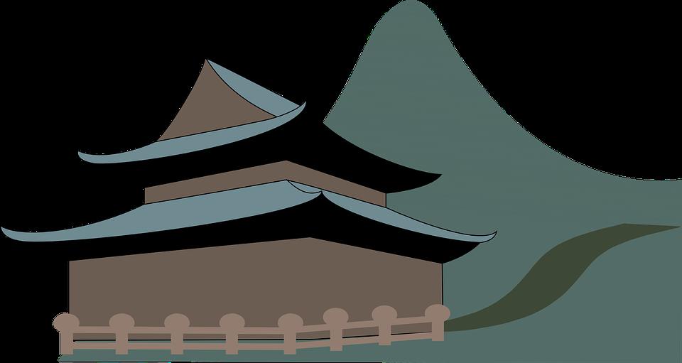 Shrine free on dumielauxepices. Japanese clipart logo