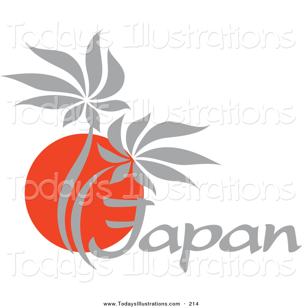 Of a red and. Japanese clipart logo