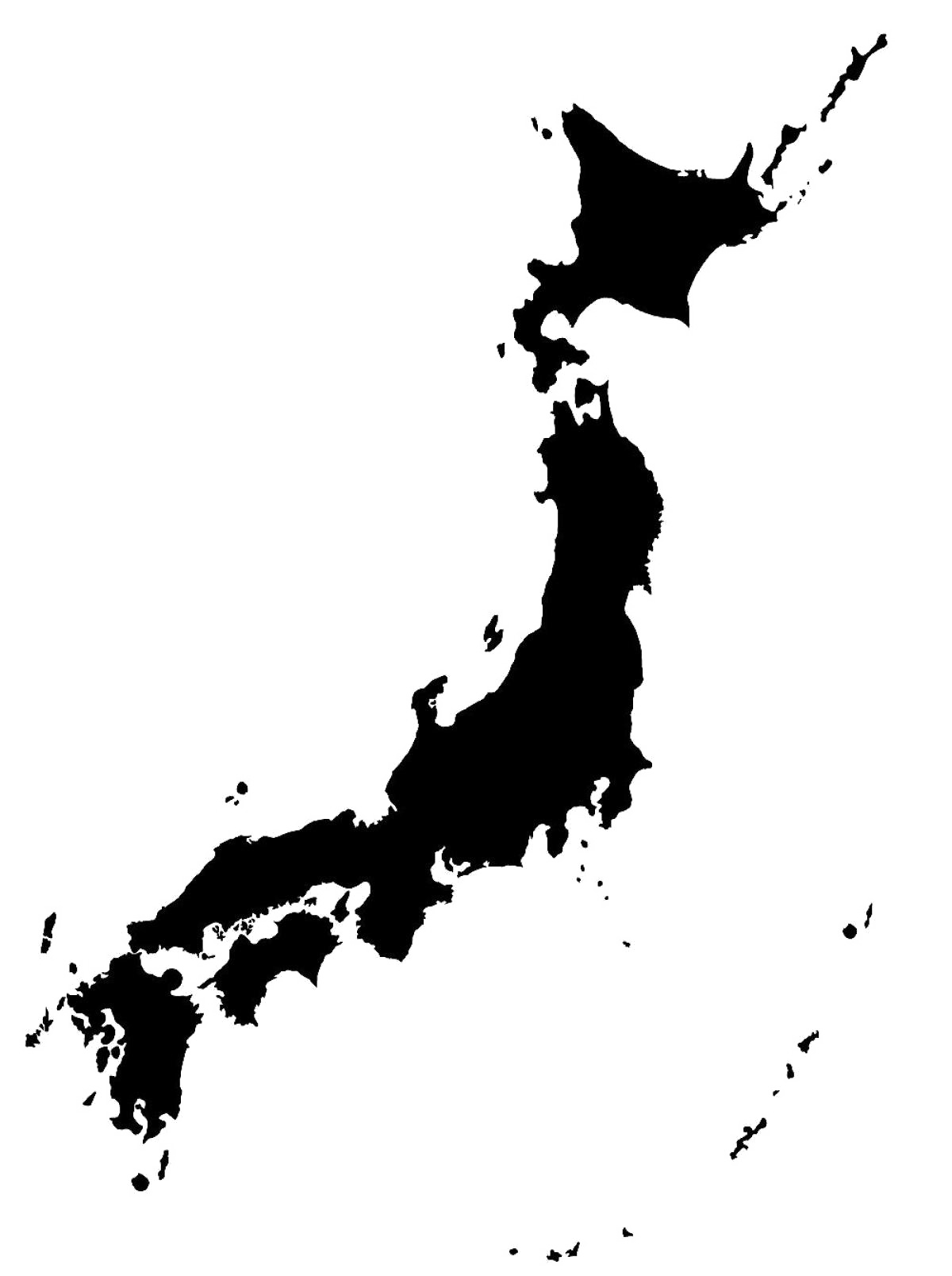 Japanese clipart map japan. Png transparent image mart