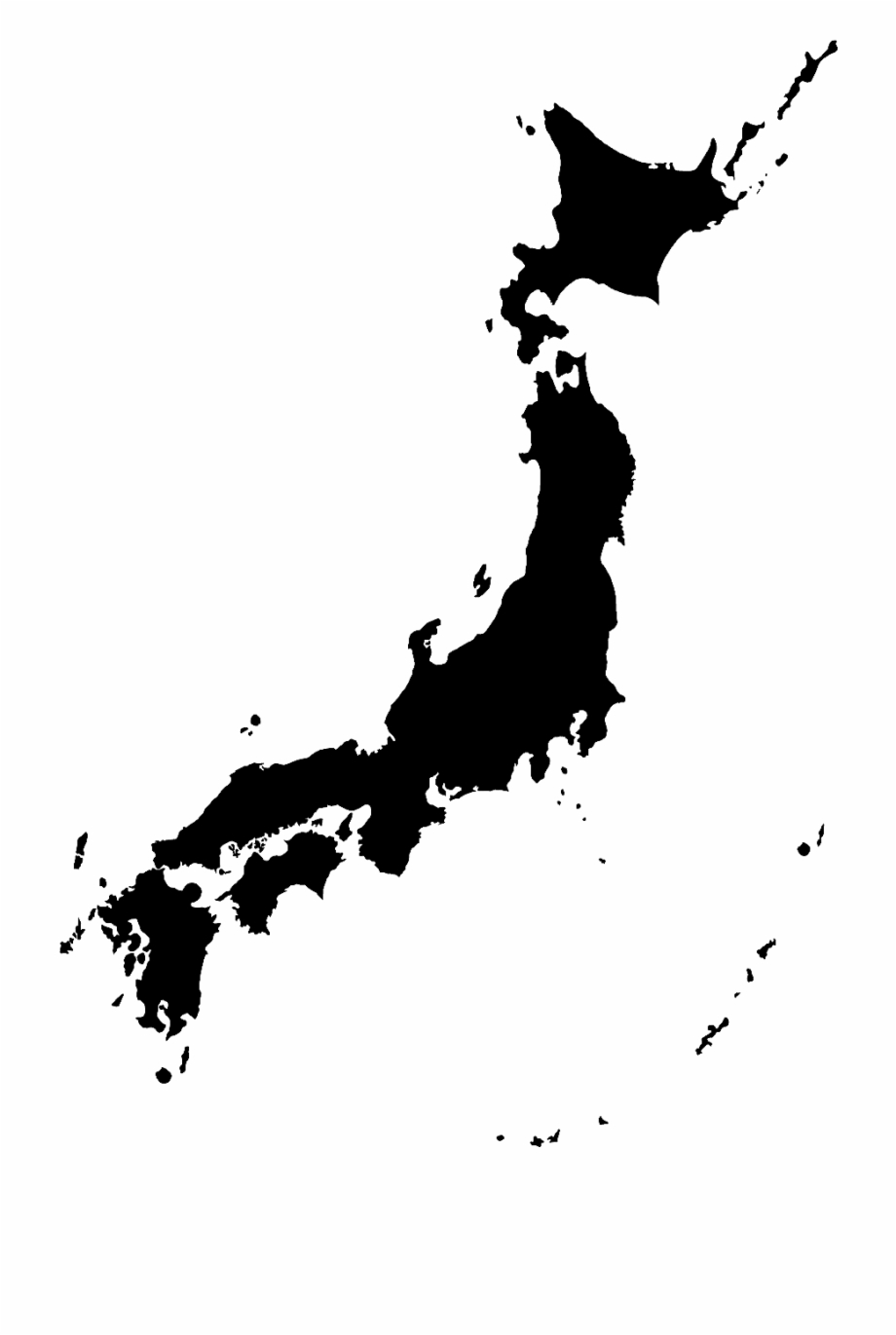 Transparent background free png. Japanese clipart map japan