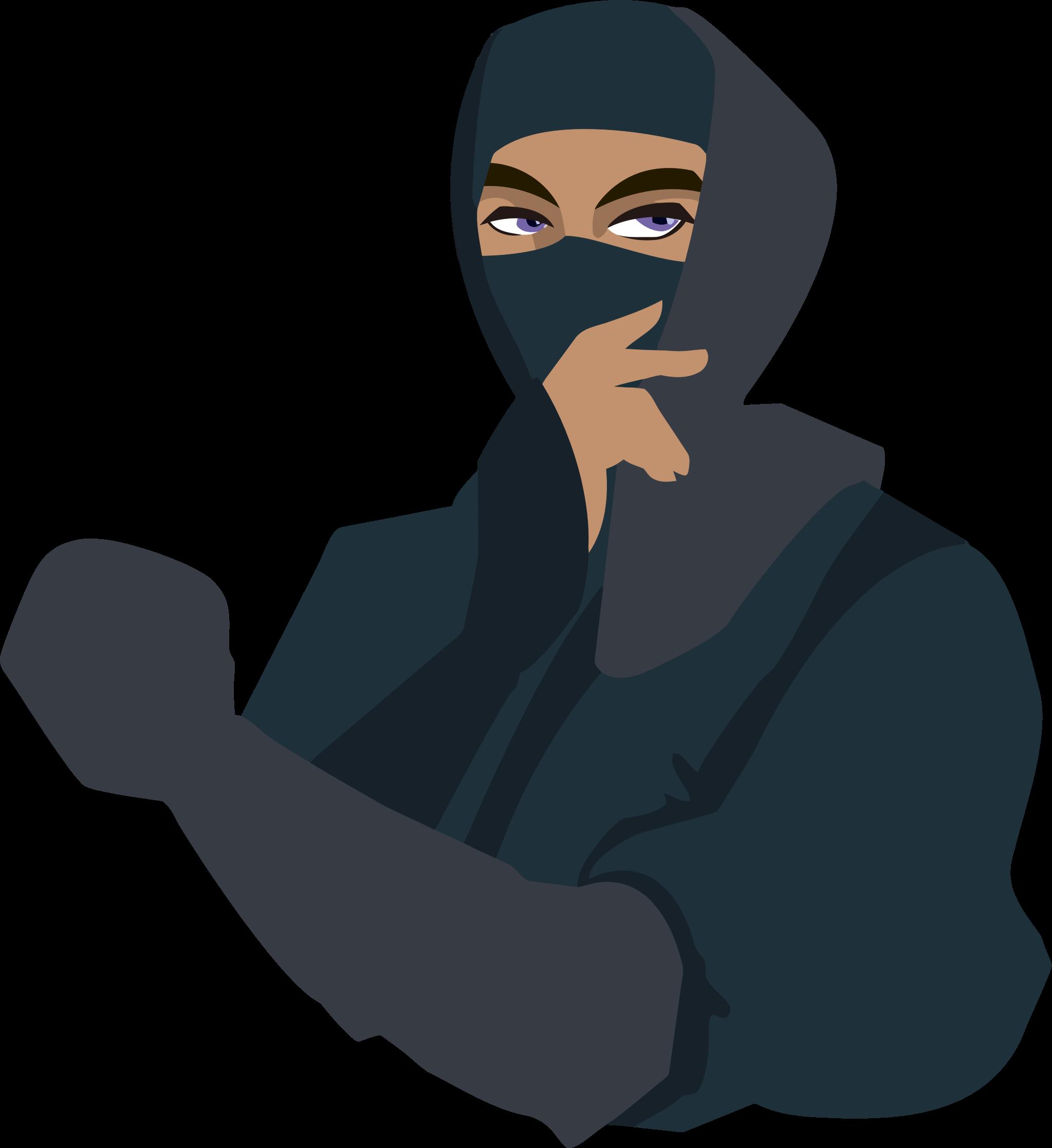 Blue eyed big image. Japanese clipart ninja