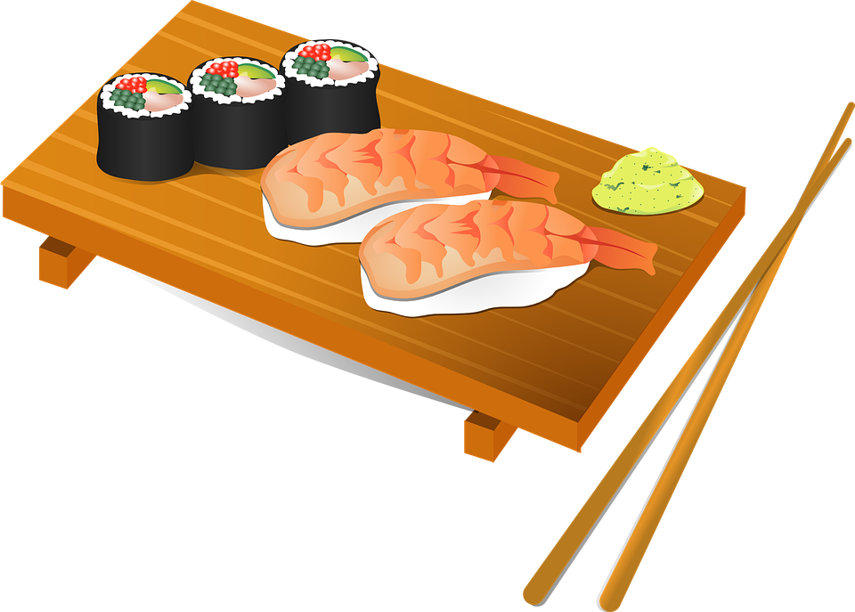 Japanese clipart royalty. Sushi roll free collection