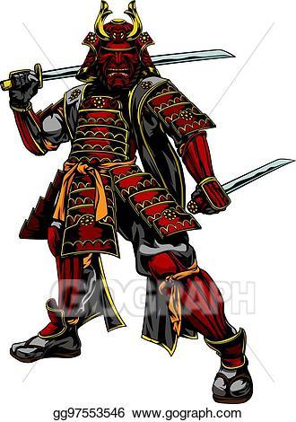 Eps illustration japanese vector. Samurai clipart samurai warrior