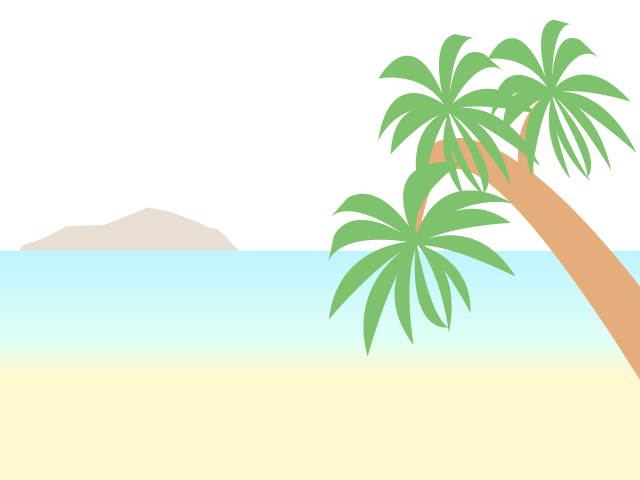 Japanese clipart scenery. Palm tree sea beach