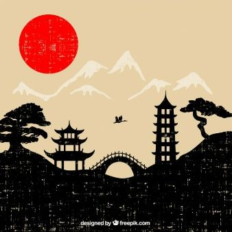 Japanese clipart scenery. Pin on jap n