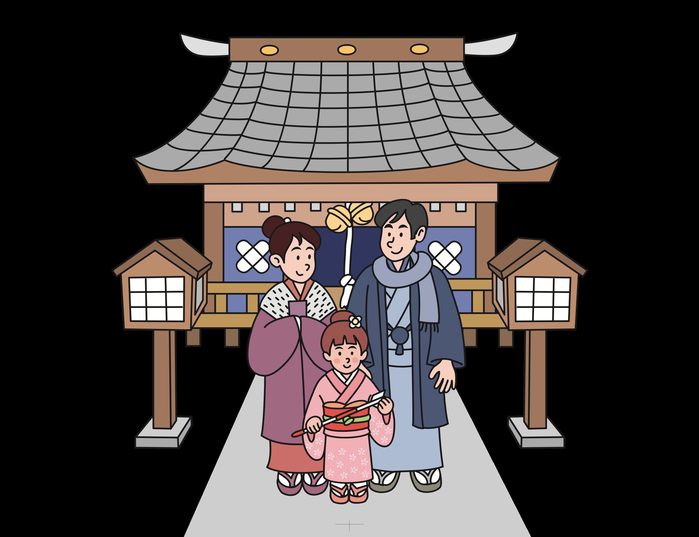 New year big image. Japanese clipart shrine japanese