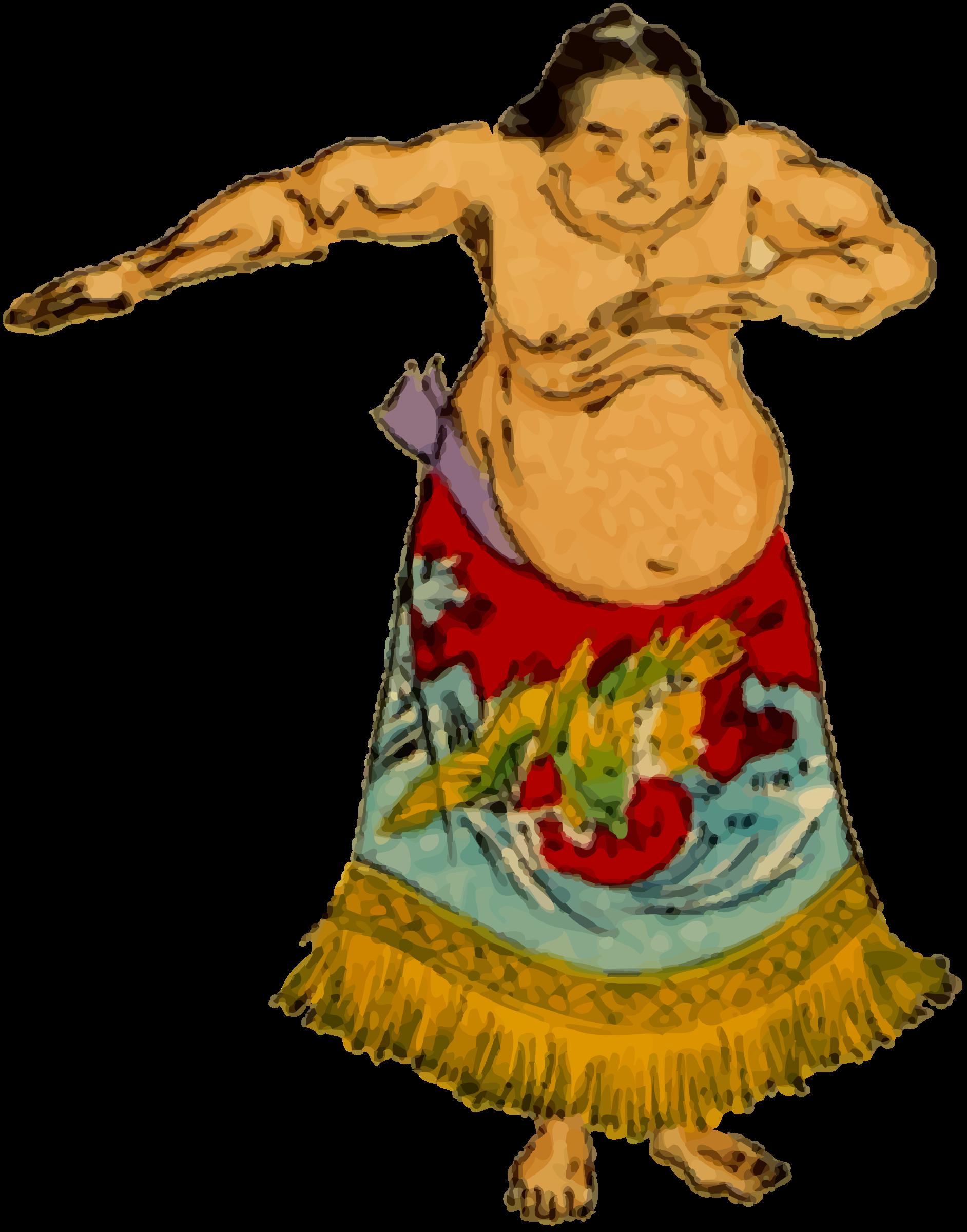 Wrestler big image png. Japanese clipart sumo