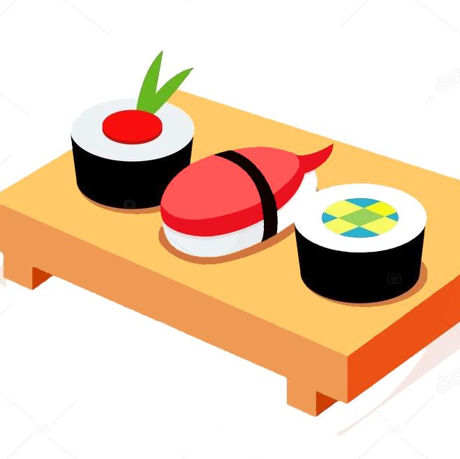 Japanese clipart wedding japanese. Japan sushi stock illustration