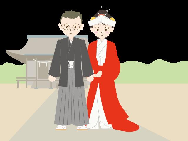 Style summer illustration free. Japanese clipart wedding japanese