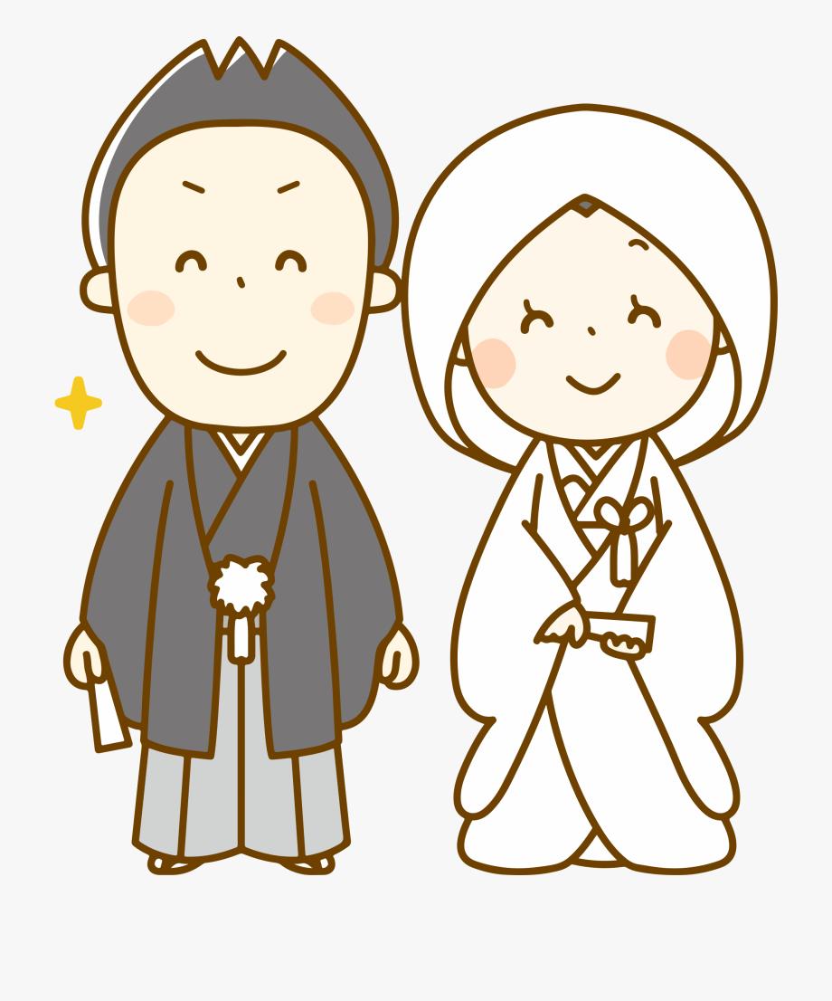 Kimono png . Japanese clipart wedding japanese