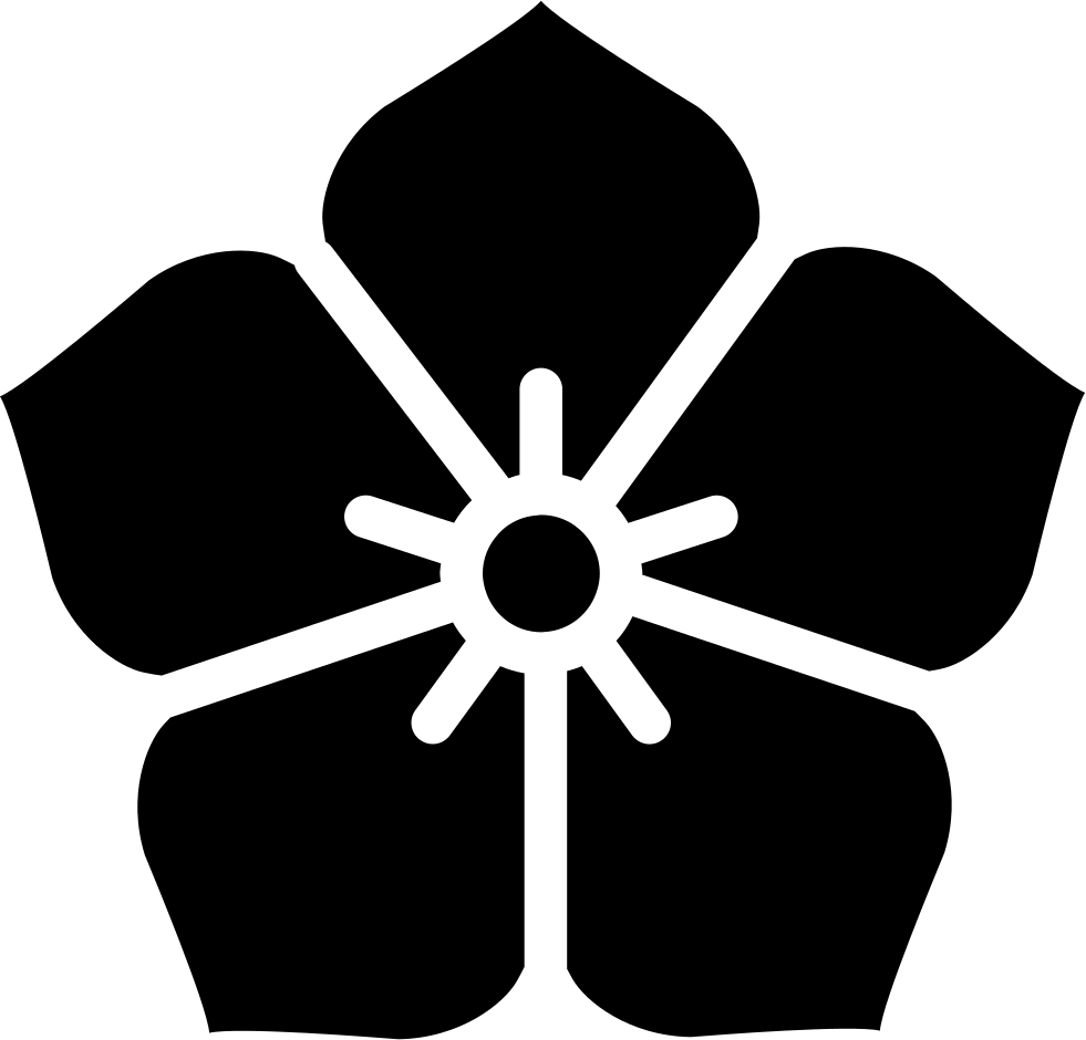 Svg icon free download. Japanese flower png