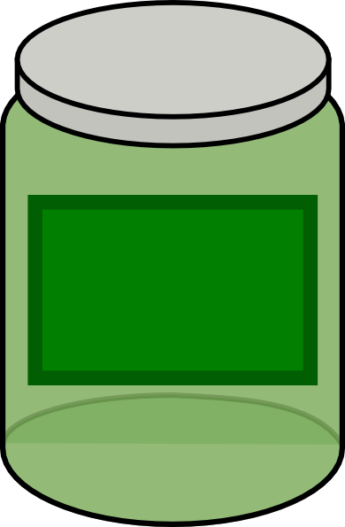 Green clip art at. Jar clipart