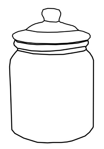 Jar clipart. Empty cookie