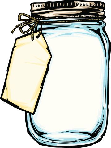 Jar clipart. Flowers in mason doodling