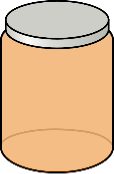 Jar clipart. Orange clip art at