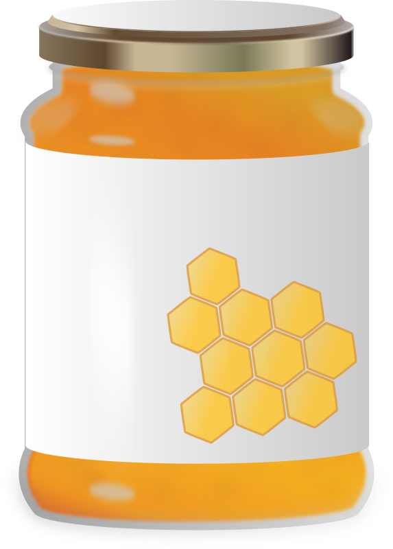 Jar clipart candy jar. Honey medium image png
