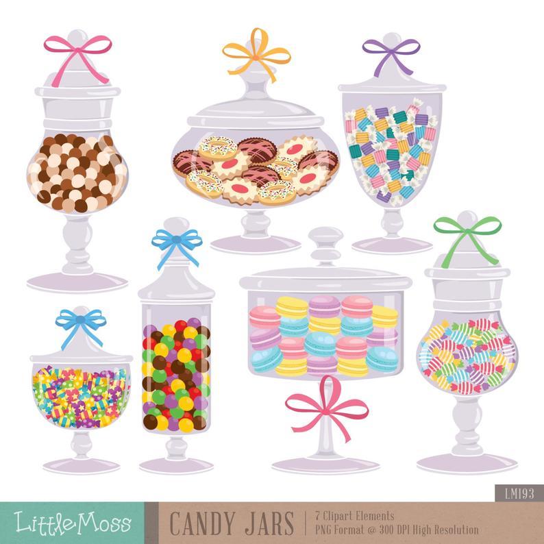 Jars digital cookie . Jar clipart candy jar