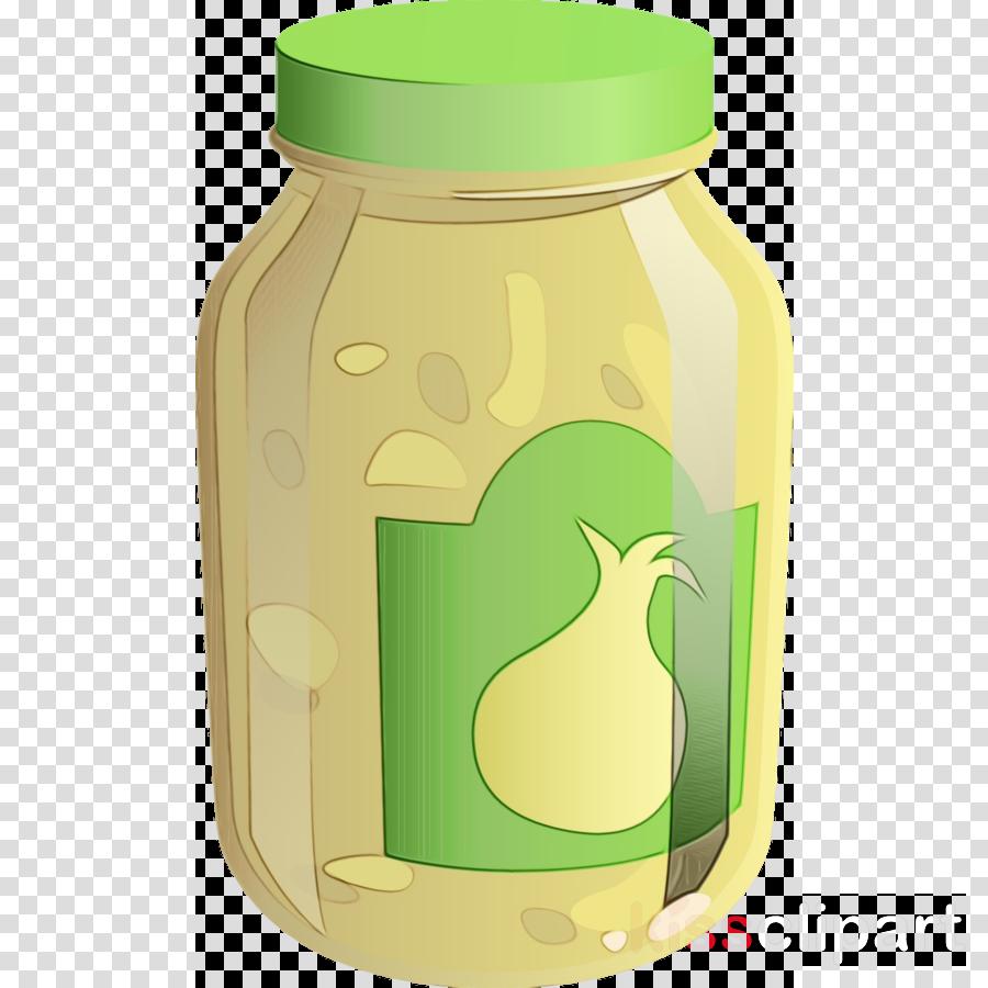 Jar clipart green. Mason food plant clip
