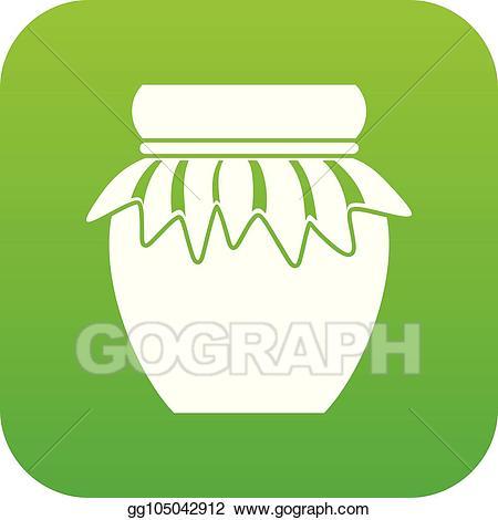 Jar clipart green. Eps vector jam in