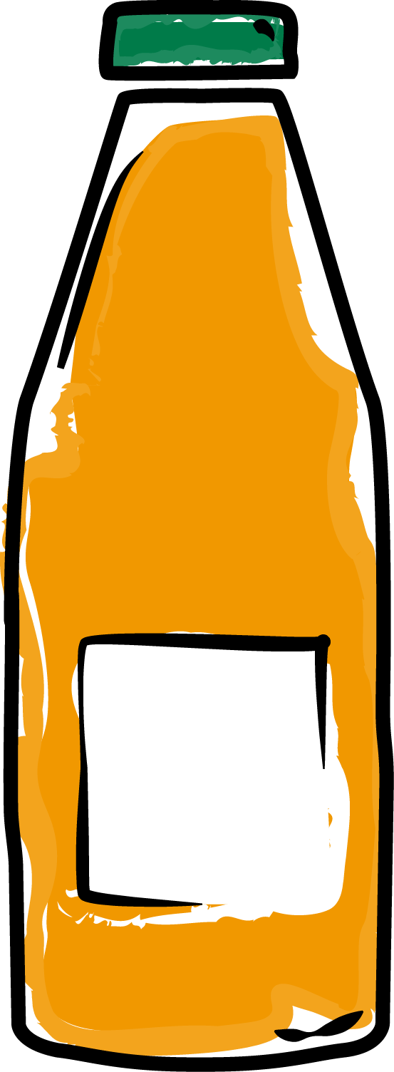 Passo for easy mix. Number 1 clipart orange
