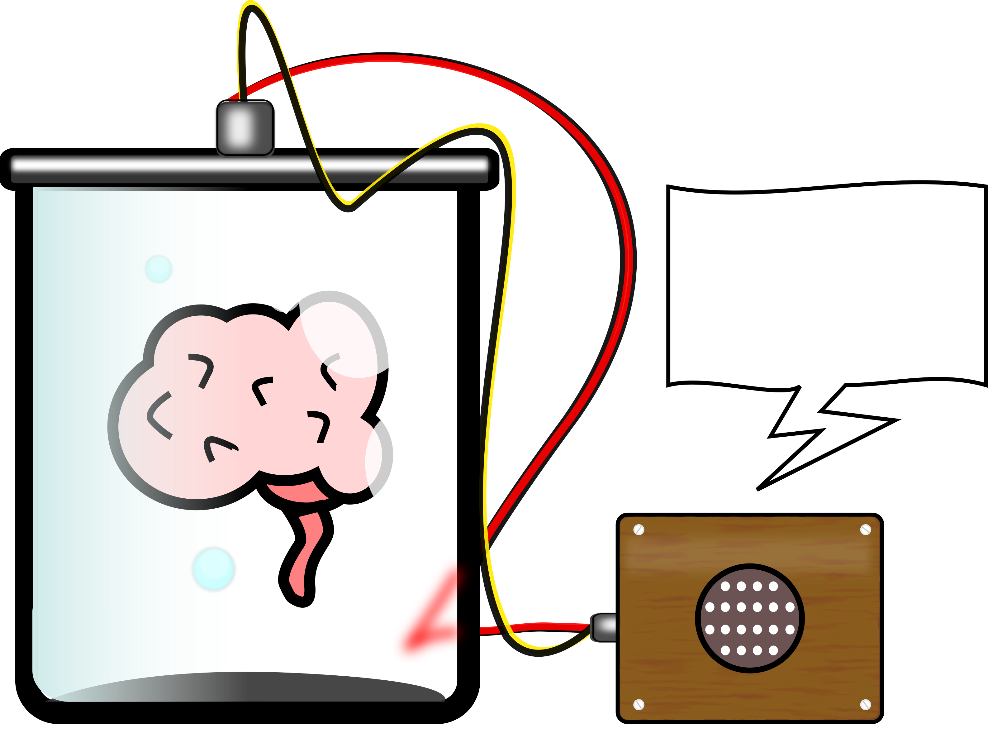 Jar clipart lab. Brain in a big