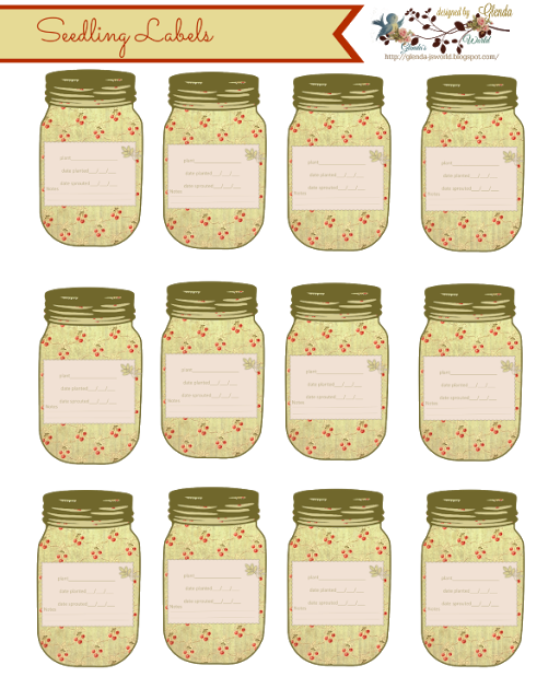 Perfume clipart canning jar. Seedling labels free printable