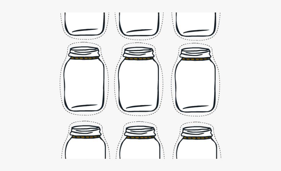 Mason glass bottle free. Label clipart jar
