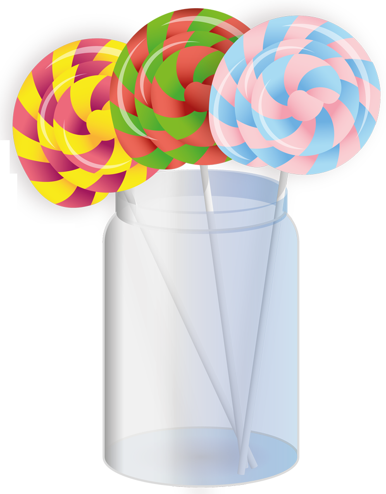 Lollipop clipart jar. Lollipops in peach milky