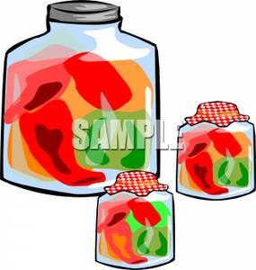 Peppers clipart pickled pepper. In jars royalty free