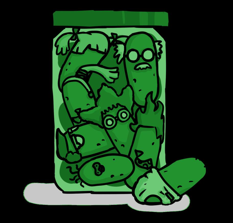 Pickle clipart pickle bottle. A jar of pickles