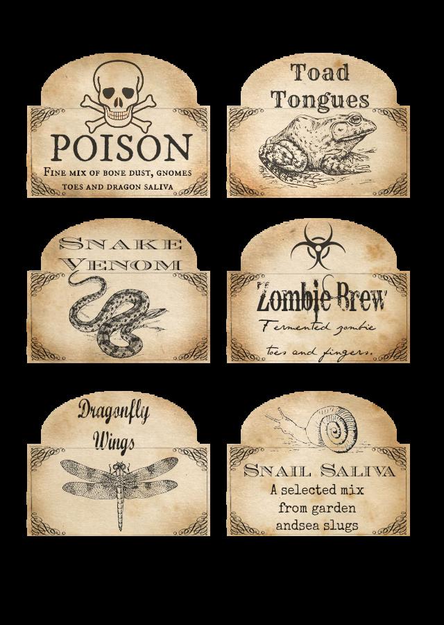 Label clipart halloween. Free printable bottle labels