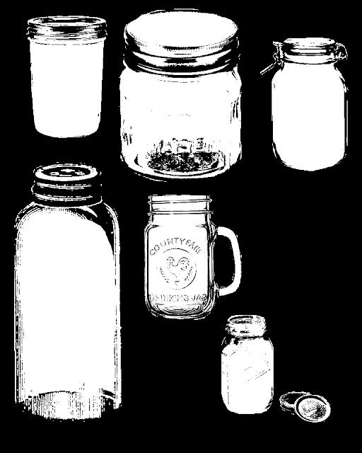 Free printable and digi. Jar clipart print