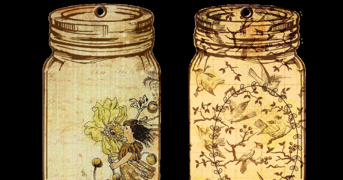 Jar clipart print. Glenda s world tags