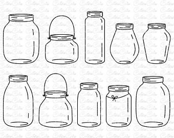 Mason etsy . Jar clipart print