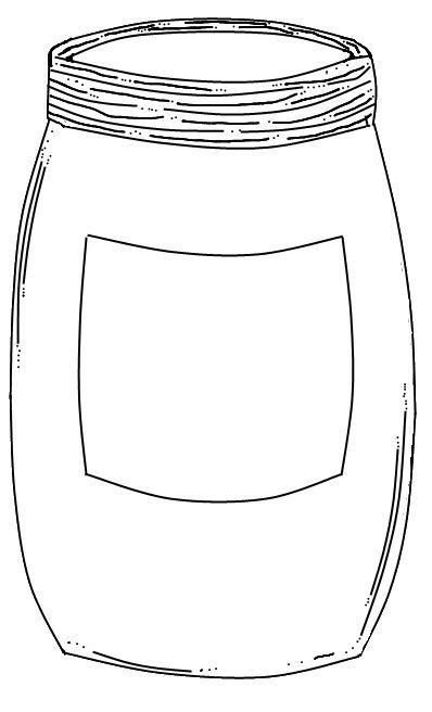 Jar clipart print. Mason template printable free