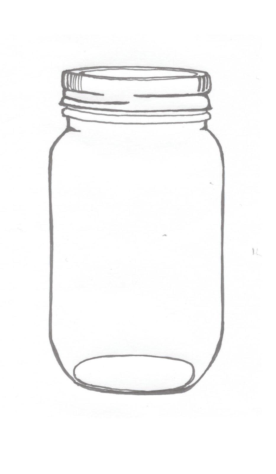 Jar clipart printable. Mason on jars clip